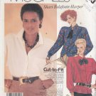 McCalls Sewing Pattern 2693 Misses Size 10-14 Easy Button Front Long Sleeve Shirt Hem Options