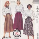 McCalls Sewing Pattern 4408 Misses Size 8-12 Full Pleated Skirts 90 Minute Pattern