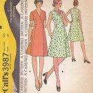McCalls Sewing Pattern 3987 M3987 Women's Half Size 14 ½ Front Wrap Princess Seams Dress