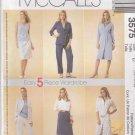 McCalls Sewing Pattern 3575 Misses Size 18-22 Easy Wardrobe Dress Shirt Top Pants Skirt