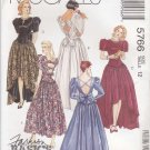 McCalls Sewing Pattern 5766 Misses Size 12 Fashion Basics Formal Dress Back Length Options