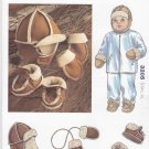 Kwik Sew Sewing Pattern 3205 Baby Toddler Sizes S-XL Shearling Hat Mittens Slippers