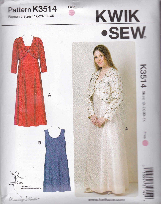 kwik sew sewing pattern 3514 s plus sizes 1x 4x