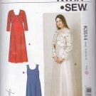 Kwik Sew Sewing Pattern 3514 Women's Plus Sizes 1X-4X Dresses Bolero Jacket Length Options