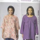 Kwik Sew Sewing Pattern 4074 Women's Plus Sizes 1X-4X Pullover Loose Fitting Tops Sleeve Options