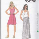 Kwik Sew Sewing Pattern 2761 Misses Sizes XS-XL (approx 6-22) Wrap Front Skirt Tank Top