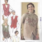 Kwik Sew Sewing Pattern 3185 Misses Sizes XS-XL (approx 6-22) Button Tie Front Vests