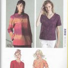 Kwik Sew Sewing Pattern 3302 Misses Sizes XS-XL (approx 6-22) Pullover Tops Sleeve Neckline Options