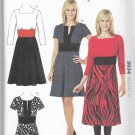 Kwik Sew Sewing Pattern 3634 Misses Sizes XS-XL (approx 6-22) Contrast Fabric Dresses