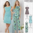 Simplicity Sewing Pattern 1466 Womans Plus Size 20W-28W Wardrobe Dress Top Pants Skirt