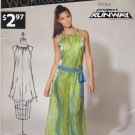 New Look Sewing Pattern 6119 Misses Size 4-16 Project Runway Workroom Long Short Dress