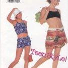 Butterick Sewing Pattern 6606 B6606 Junior Girls Size 1/2-7/8 Easy Knit Suntops Halter Top Shorts