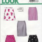 New Look Sewing Pattern 6843 Misses Size 8-18 Easy 1 Hour Basic Straight A-Line Flared Skirts