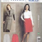 Kwik Sew Sewing Pattern 3728 Misses Sizes XS-XL (approx 6-22) Pleat Button front A-Line Skirts