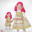 "Simplicity Sewing Pattern S0694 0694 Girls Sizes 3-8 18"" Doll Easy Rag Doll Dress Jumper Costume"