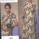 Vogue Sewing Pattern 1134 Misses Size 8-14 Easy Anna Sui Long Formal Dress Short Sleeves
