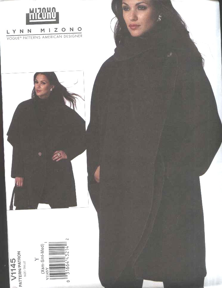 Vogue Sewing Pattern 1145 Misses Size 16-22 Easy Lynn Mizono Unlined Fleece Jacket Pants