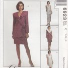McCalls Sewing Pattern 6923 Misses Size 10-14 Front Wrap Dress Jacket Top Straight Skirt