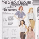 McCalls Sewing Pattern 7066 Misses Size 10 Front Button Blouse Sleeve Pocket Options