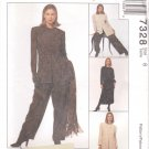 McCalls Sewing Pattern 7328 Misses Size 10 Lined Jacket Tunic Skirt Pants