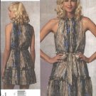 Vogue Sewing Pattern 1153 Misses Size 12-18 Anna Sui Sleeveless Summer Dress Ruffles