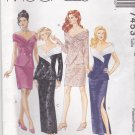 McCalls Sewing Pattern 7453 M7453 Misses Size 10-14 Formal Unlined Top Straight Skirt Two Lengths