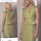 Vogue Sewing Pattern 1157 Misses Size 8-14 Tracy Reese Lined Fitted Sleeveless Dress