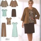 Simplicity Sewing Pattern 2372 Misses Size 10-18 Wardrobe Jacket Pullover Top Dress Skirt Pants