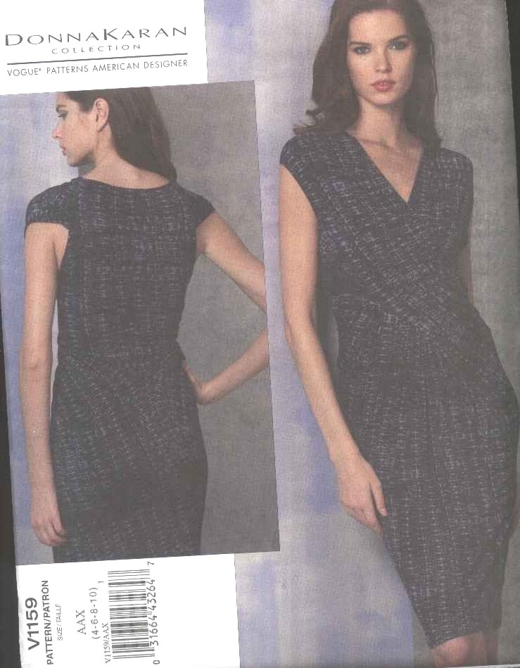 Vogue Sewing Pattern 1159 Misses Size 4-10 Donna Karan Knit Sleeveless Straight Fitted Dress