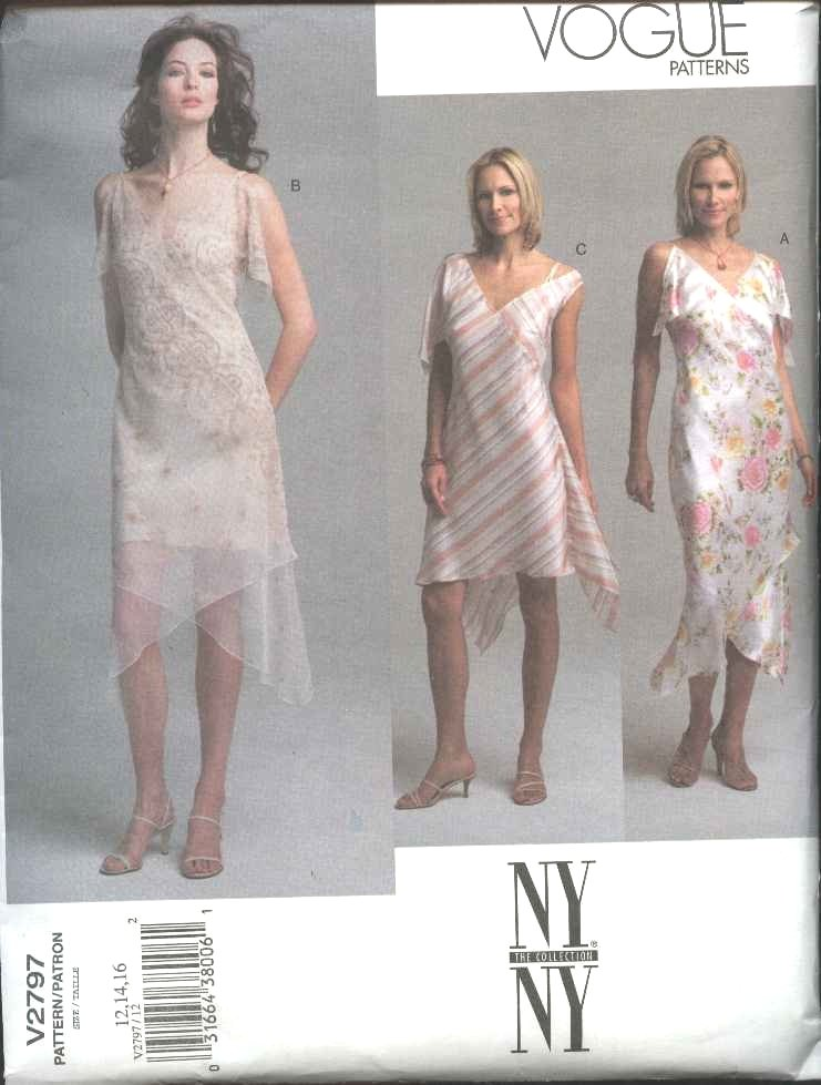 Vogue Sewing Pattern 2797 Misses size 18-20-22 NYNY Summer Dress Slip