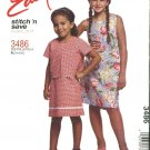 McCall's Sewing Pattern 3486 Girls Size 3-4-5-6 Easy Sleeveless Summer Dress Short Sleeve Jacket