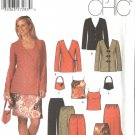 Simplicity Sewing Pattern 5261 Misses Size 8-14 Easy Wardrobe Jacket Skirt Camisole Pants Purse