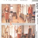 McCall's Sewing Pattern 3727 Misses Size 8-14 Wardrobe Jacket Dress Top Pants Skirt