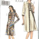 Vogue Sewing Pattern 8187 Misses Sizes 6-8-10-12 Easy Coat Sleeveless Dress