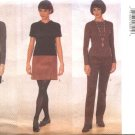 Butterick Sewing Pattern 5654 Misses Size 6-8-10 Easy A-Line Fitted Skirt Straight Legged Pants