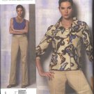 Vogue Sewing Pattern 1167 Misses Size 8-14 Anne Klein Lined Jacket Sleeveless Knit Top Shell Pants