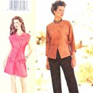 Vogue Sewing Pattern V7281 7281 Misses Size 10-14 Sandra Betzina Asymmetrical Top Shorts Pants