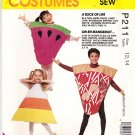 McCalls Sewing Pattern P211 7287 Girls Boys Size 12-14 Easy Slice of Life Costumes Pizza Pie Cake