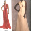 Vogue Sewing Pattern 1030 Misses Size 14-16-18-20-22 Badgley Mischka Formal Long Evening Gown Dress