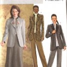 Butterick Sewing Pattern 4357 Misses Size 6-8-10-12 Button Front Princess Seam Jacket Skirt Pants