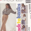 McCall's Sewing Pattern 5935 Misses Size 8-12 Easy Basic Skirt Pants Shorts