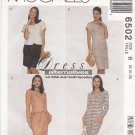 McCall's Sewing Pattern 6502 Misses Size 8-12 Button Front Dress Mock Wrap Skirt Jacket