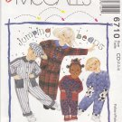 McCalls Sewing Pattern 6710 M6710 Boys Girls Size 2-4 Jumping Beans Easy Button Front Jumpsuit