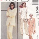 McCall's Sewing Pattern 6938 Misses Size 16-20 Easy Wardrobe Pants Jacket Skirt Top