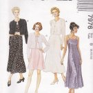 McCall's Sewing Pattern 7976 Misses Size 8-12 Easy Slip Dress Length Options Jacket