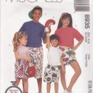 McCall's Sewing Pattern M8935 8935 Girls Boys Size 2-4 Easy 60 Minute Boxer Shorts Three Lengths