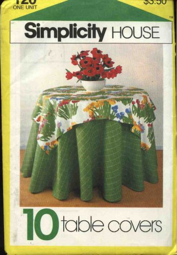 Simplicity House Sewing Pattern 120 Ten Tablecovers Tablecloths Napkins Placemats