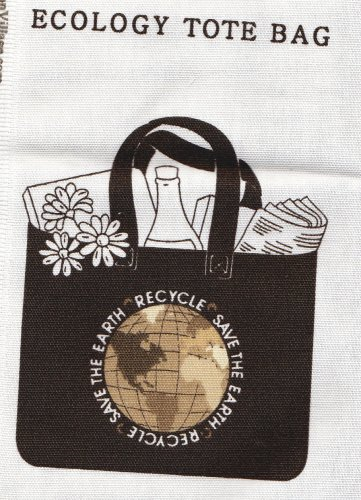 "DIY Ecology Tote Bag 16""X15 1/2""x5"" Heavy Duty Cotton Cranston Village Pre-Cut Bag Pieces"