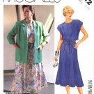 McCall's Sewing Pattern 3012 M3012 Women's Half Size 20 1/2 Pullover Sleeveless Dress Jacket