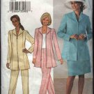Butterick Sewing Pattern 3705 Misses Size 20-24 Easy Zipper Front Lined Jacket Skirt Pants Suit